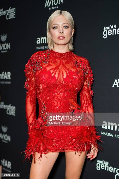 Caroline Vreeland attends amfAR GenCure Solstice 2018 at SECOND on June 21 2018 in New York City