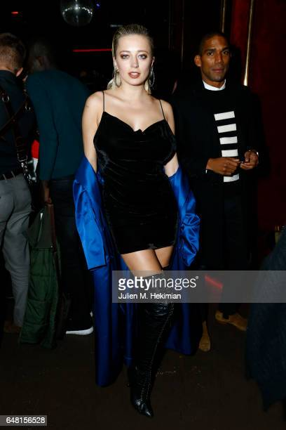 Caroline Vreeland attends Chrome Hearts X Bella Hadid Collaboration Launch as part of Paris Fashion Week at Chrome Hearts on March 5 2017 in Paris...