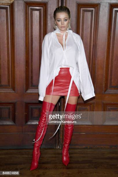 Caroline Vreeland attends Marc Jacobs SS18 fashion show during New York Fashion Week at Park Avenue Armory on September 13 2017 in New York City