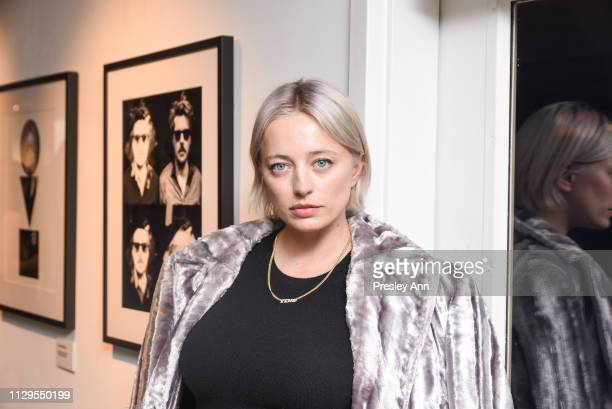 Caroline Vreeland attends Oliver Peoples x Tasya van Ree Celebrates Who is Oliver Exhibition at LECLAIREUR on February 13 2019 in Los Angeles...