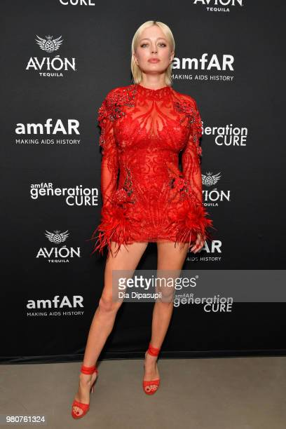Caroline Vreeland attends the amfAR GenCure Solstice 2018 on June 21 2018 in New York City