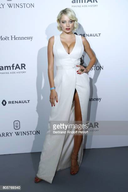 Caroline Vreeland attends the amfAR Paris Dinner 2017 at Le Petit Palais on July 2 2017 in Paris France