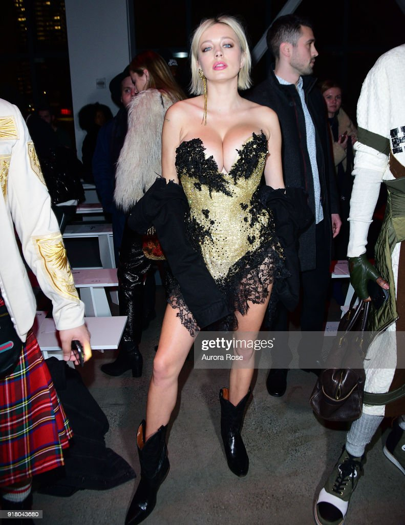 Caroline Vreeland attends The Blonds Runway show during New York Fashion Week at Spring Studios on February 13, 2018 in New York City.