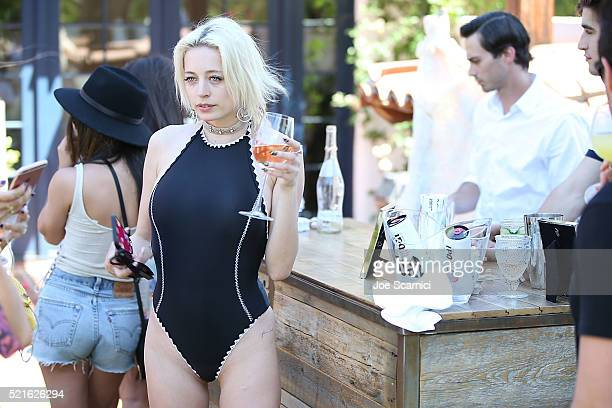 Caroline Vreeland attends the #Chillchella brunch hosted by Bai beverages Dannijo Same Swim and Diane von Furstenberg on April 16 2016 in Thermal...