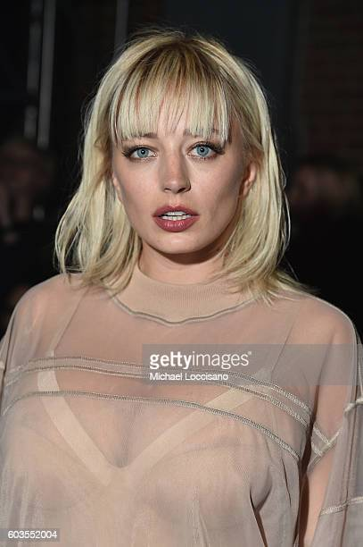 Caroline Vreeland attends the DKNY Women fashion show during New York Fashion Week The Shows September 2016 at High Line on September 12 2016 in New...