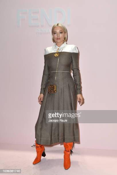 Caroline Vreeland attends the Fendi show during Milan Fashion Week Spring/Summer 2019 on September 20 2018 in Milan Italy