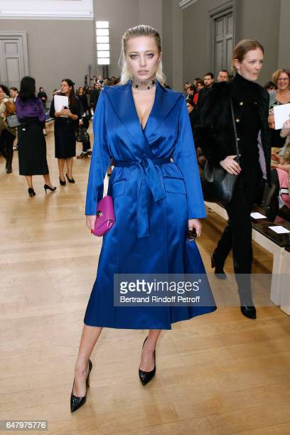 Caroline Vreeland attends the Nina Ricci show as part of the Paris Fashion Week Womenswear Fall/Winter 2017/2018 on March 4 2017 in Paris France