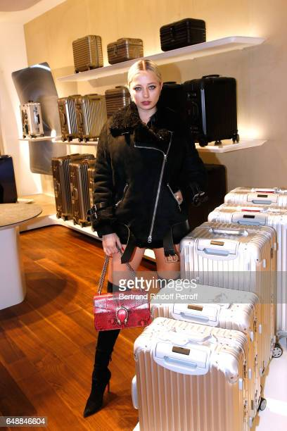 Caroline Vreeland attends the Opening of the Boutique Rimowa 73 Rue du Faubourg Saint Honore in Paris on March 6 2017 in Paris France