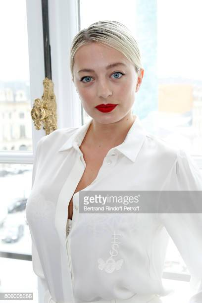 Caroline Vreeland attends the Schiaparelli Haute Couture Fall/Winter 20172018 show as part of Haute Couture Paris Fashion Week on July 3 2017 in...