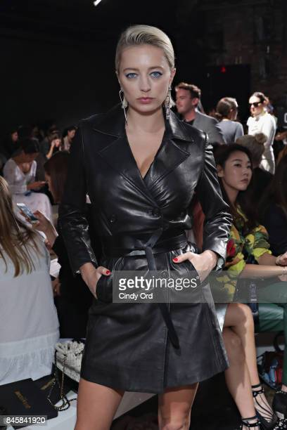 Caroline Vreeland attends the Zadig Voltaire September 2017 fashion show during New York Fashion Week at Cedar Lake on September 11 2017 in New York...