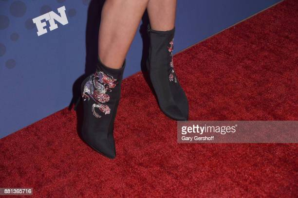 Caroline Vreeland boot detail attends the 31st FN Achievement Awards at IAC Headquarters on November 28 2017 in New York City