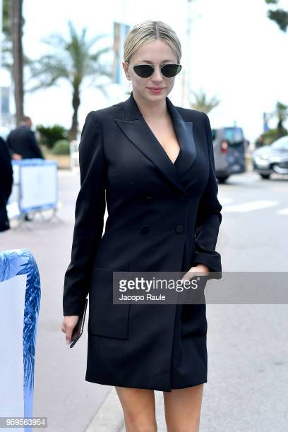 Caroline Vreeland is seen during the 71st annual Cannes Film Festival at on May 17 2018 in Cannes France