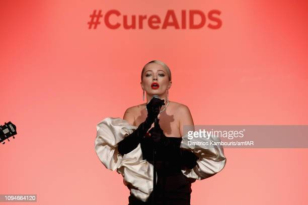 Caroline Vreeland performs onstage during the amfAR New York Gala 2019 at Cipriani Wall Street on February 6 2019 in New York City
