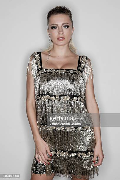 Caroline Vreeland poses for a portrait during amfAR Milano 2016 at La Permanente on September 24 2016 in Milan Italy