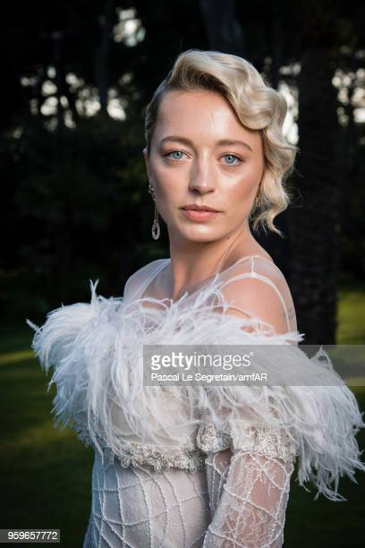 Caroline Vreeland poses for portraits at the amfAR Gala Cannes 2018 cocktail at Hotel du CapEdenRoc on May 17 2018 in Cap d'Antibes France