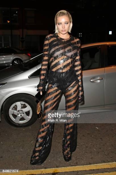 Caroline Vreeland seen at St John for the Off White party during London Fashion Week September 2017 on September 17 2017 in London England