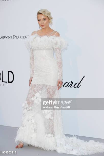 Caroline Vreeland wearing Pomellato arrives at the amfAR Gala Cannes 2018 at Hotel du CapEdenRoc on May 17 2018 in Cap d'Antibes France