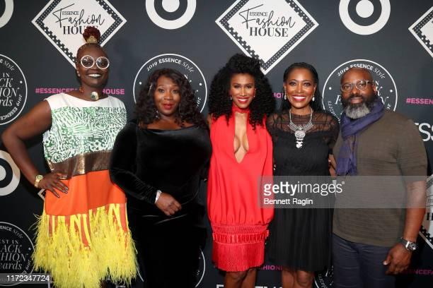 Caroline Wanga Bevy Smith Moana Luu Laysha Ward and Richelieu Dennis attend the ESSENCE Best In Black Fashion Awards at Affirmation Arts on September...