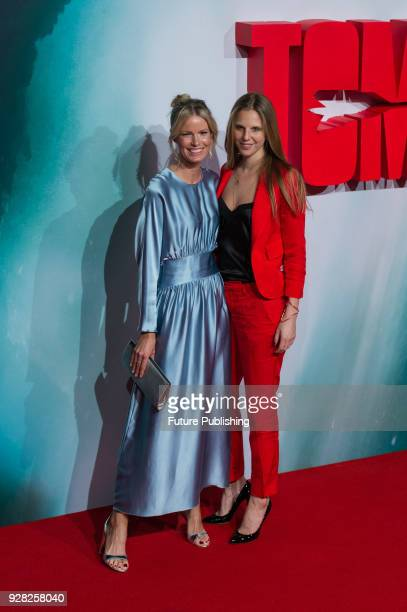 Caroline Weinberg and Teodora Berglund arrive for the European film premiere of 'Tomb Raider' at Vue West End cinema in London's Leicester Square...