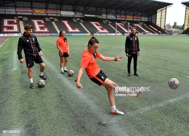Caroline Weir of Liverpool Ladies during a Photocall at Select Security Stadium on June 2 2017 in Widnes England