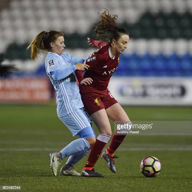 Caroline Weir of Liverpool Ladies during the FA WSL match between Liverpool Ladies and Sunderland Ladies at Select Security Stadium on February 21...