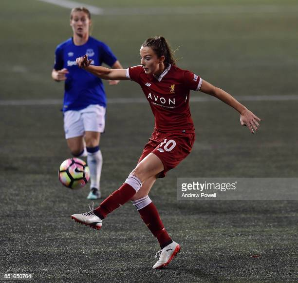 Caroline Weir of Liverpool Ladies during the match between Everton Ladies and Liverpool Ladies at Select Security Stadium on September 22 2017 in...