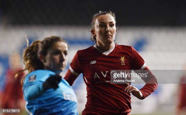 Caroline Weir of Liverpool Ladies during the Women's Super League match between Liverpool Ladies and Arsenal Women at Select Security Stadium on...