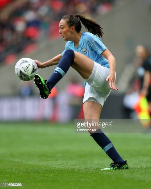 Caroline Weir of Manchester City during the Women's FA Cup Final match between Manchester City Women and West Ham United Ladies at Wembley Stadium on...