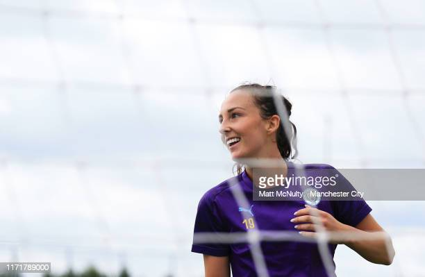 Caroline Weir of Manchester City in action during the training session at Manchester City Football Academy on September 02 2019 in Manchester England