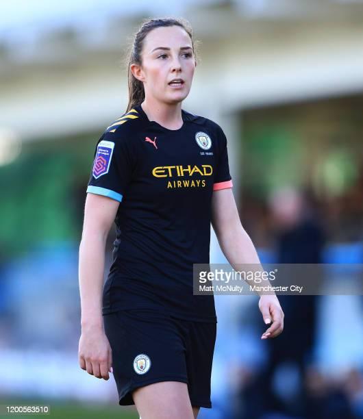 Caroline Weir of Manchester City looks on during the Barclays FA Women's Super League match between Birmingham City and Manchester City at Damson...