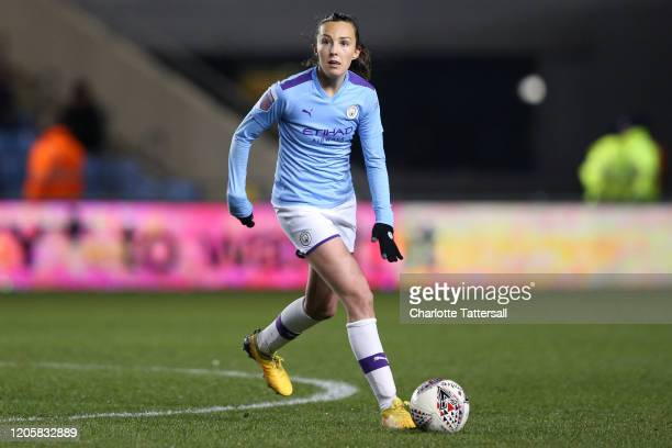Caroline Weir of Manchester City on the ball during the Barclays FA Women's Super League match between Manchester City and Bristol City at The...