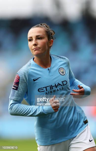 Caroline Weir of Manchester City Women during the Continental Cup match between Manchester City Women and Leicester City Women at Manchester City...