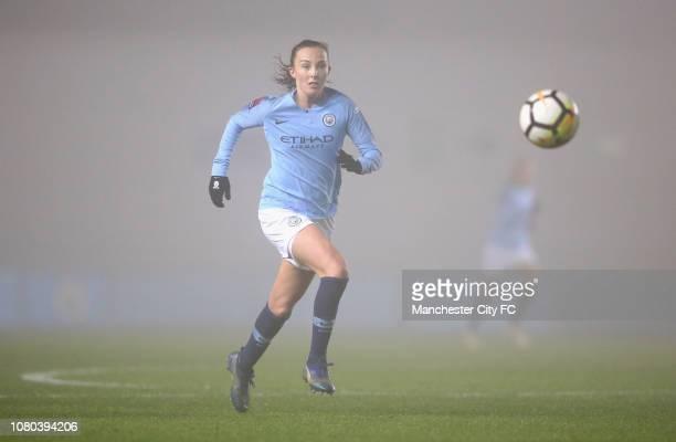 Caroline Weir of Manchester City Women during the Continental Cup Semi Final match between Manchester City Women of Brighton and Hove Albion Women at...
