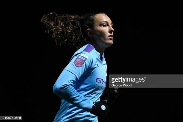 Caroline Weir of Manchester City Women during the FA Women's Continental League Cup Quarter Final match between Sheffield United Women and Manchester...