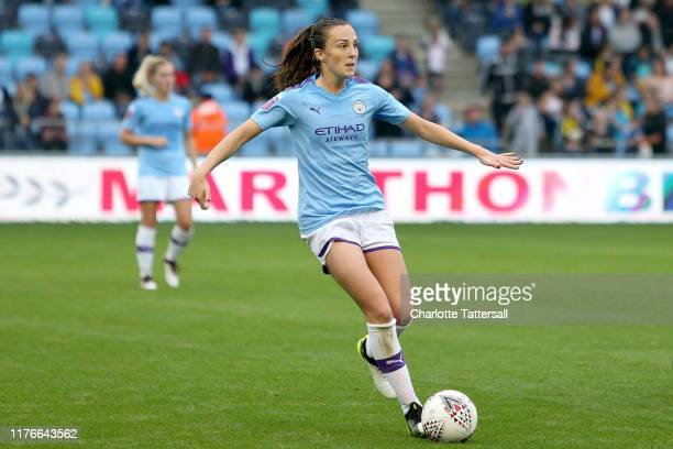 Caroline Weir of Manchester City Women during the The FA Continental League Cup match between Manchester City Women and Leicester City Women at The...