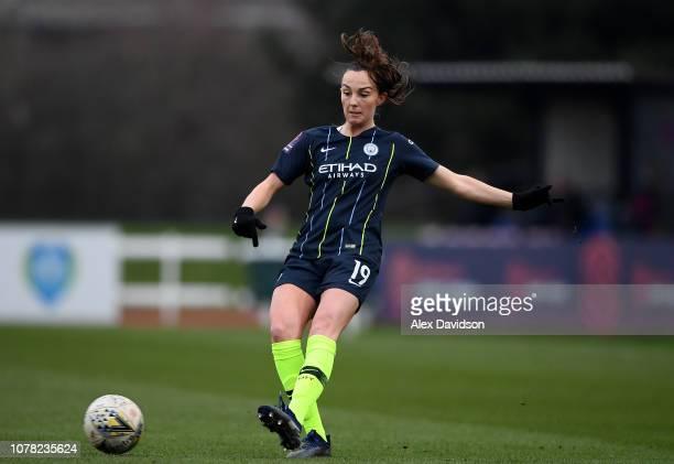 Caroline Weir of Manchester City Women passes during the FA Women's Super League match between Bristol City Women and Manchester City Women at Stoke...