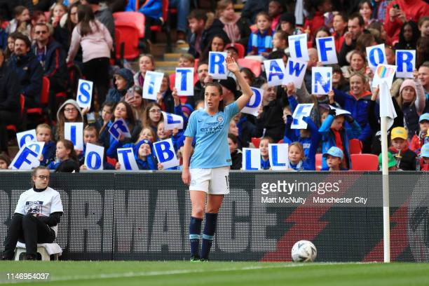 Caroline Weir of Manchester City Women prepares to take a corner kick during the Women's FA Cup Final match between Manchester City Women and West...
