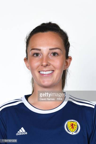 Caroline Weir of Scotland poses for a portrait during the official FIFA Women's World Cup 2019 portrait session at AC Hotel by Marriott Nice on June...