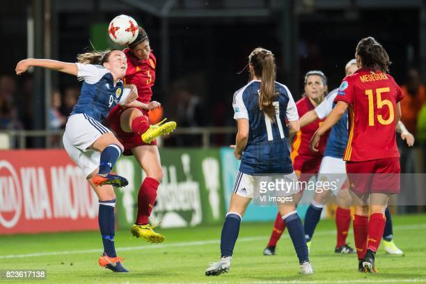 Caroline Weir of Scotland women Marta Torrejon of Spain women during the UEFA WEURO 2017 Group D group stage match between Scotland and Spain at The...