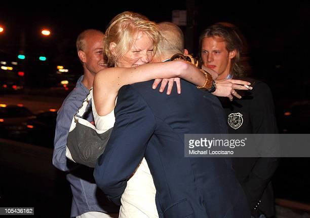 Caroline Winberg and Alexander von Furstenberg during Calvin Klein Underwear Wrap Up Dinner - June 16, 2005 at Perry St. In New York City, New York,...