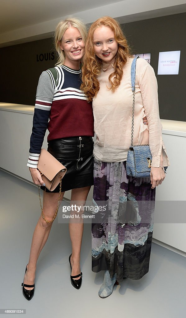 Caroline Winberg and Lily Cole attend the Louis Vuitton Series 3 VIP launch during London Fashion Week SS16 on September 20, 2015 in London, England.