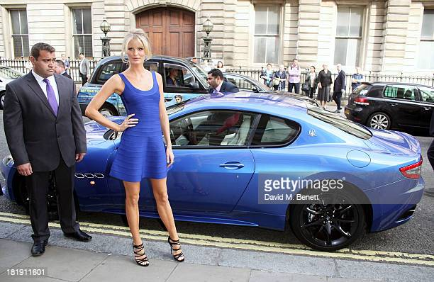Caroline Winberg arrives in a Maserati to celebrate the launch of her new Sky Living TV series The Face at The Royal Opera House Covent Garden on...