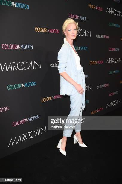 Caroline Winberg at the Marc Cain fashion show during the Berlin Fashion Week Spring/Summer 2020 at Velodrom on July 02 2019 in Berlin Germany