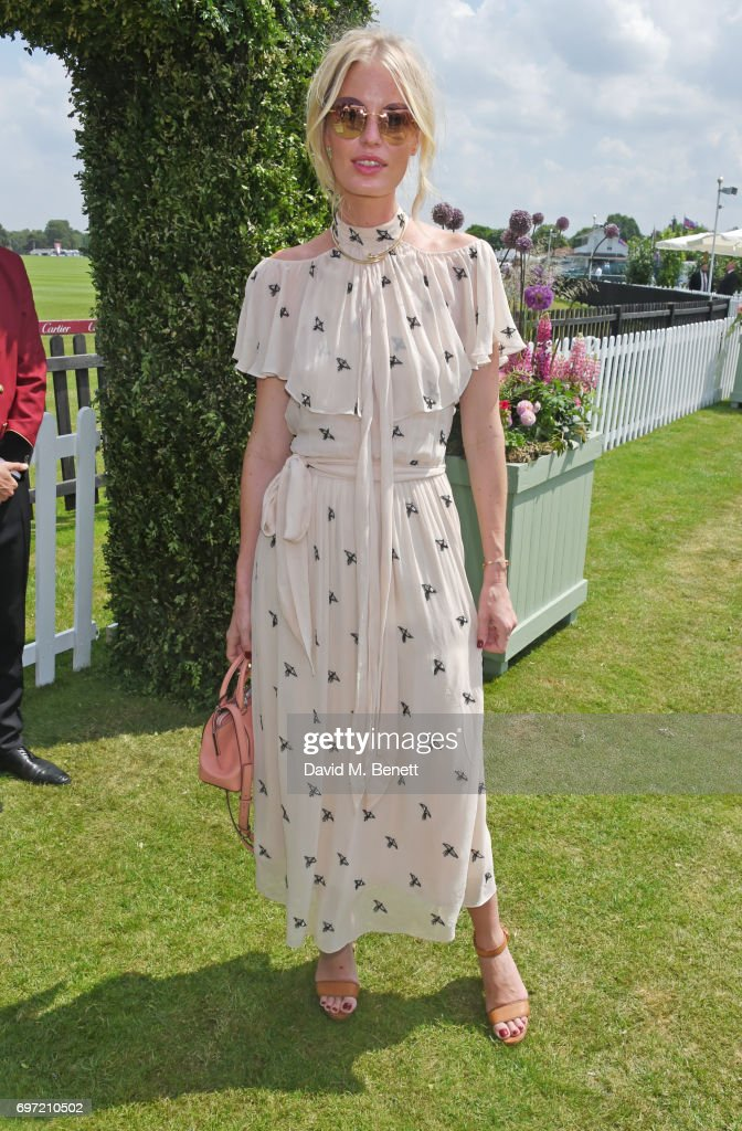 Caroline Winberg attends the Cartier Queen's Cup Polo final at Guards Polo Club on June 18, 2017 in Egham, England.