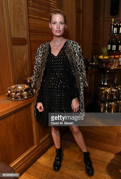 Caroline Winberg attends the launch of the book 'Alice Temperley English Myths and Legends' at The London Edition Hotel on October 10 2017 in London...