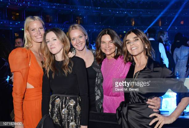 Caroline Winberg Clare Waight Keller Kate Reardon Dame Natalie Massenet and Carine Roitfeld attend The Fashion Awards 2018 in partnership with...