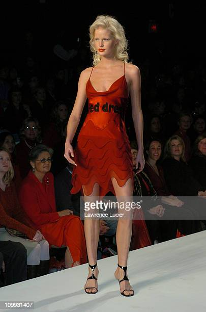 Caroline Winberg during Red Dress Collection 2004 Raising Awareness Of Women And Heart Disease at Bryant Park in New York City New York United States