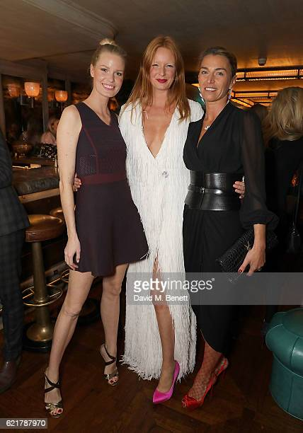 Caroline Winberg Olivia Inge and Anastasia Webster attend the launch of The Rupert Sanderson Champagne Slipper For 34 Mayfair at 34 Mayfair on...
