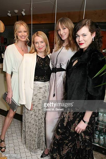 Caroline Winberg Sarah Bailey Jade Parfitt and Jasmine Guinness attend a VIP charity dinner hosted by Red Magazine in aid of mothers2mothers as part...