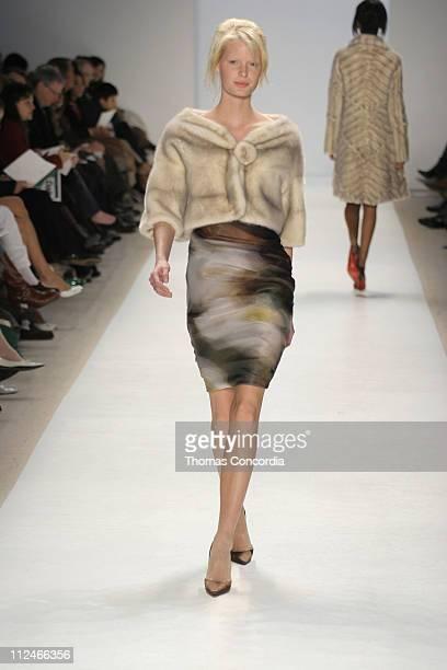 Caroline Winberg wearing J Mendel Fall 2005 during Olympus Fashion Week Fall 2005 J Mendel Runway at Plaza in New York City New York United States